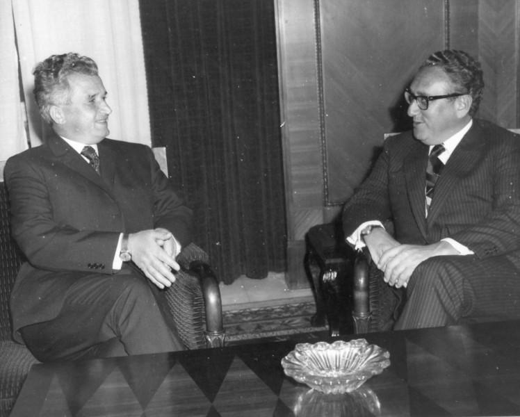 Nicolae Ceaușescu és Henry Kissinger