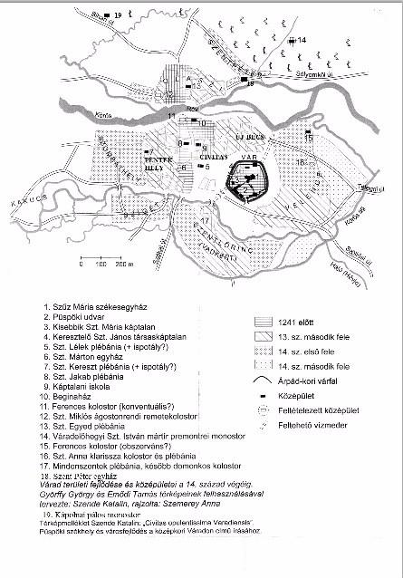 Szende Katalin - Várad városrészei és egyházi épületei